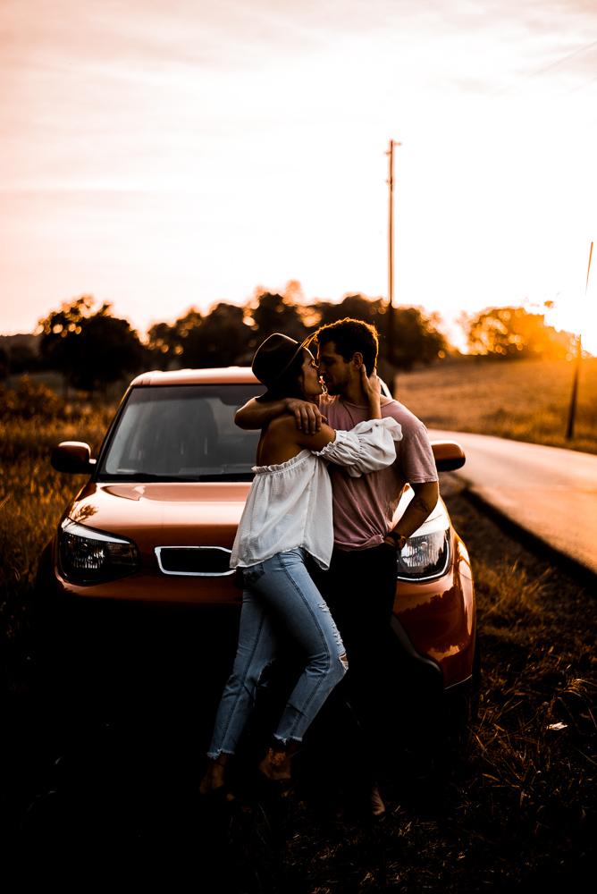 Couple_Orange_Car_Sunset