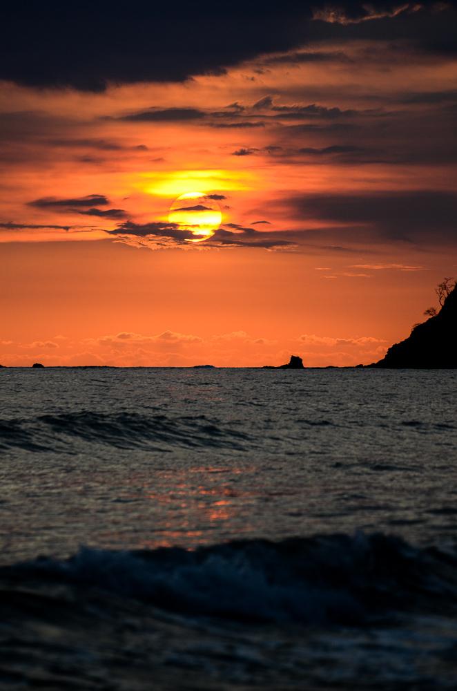 orange sunset beach